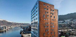 Foto av massivtrebygningen Treet i Bergen