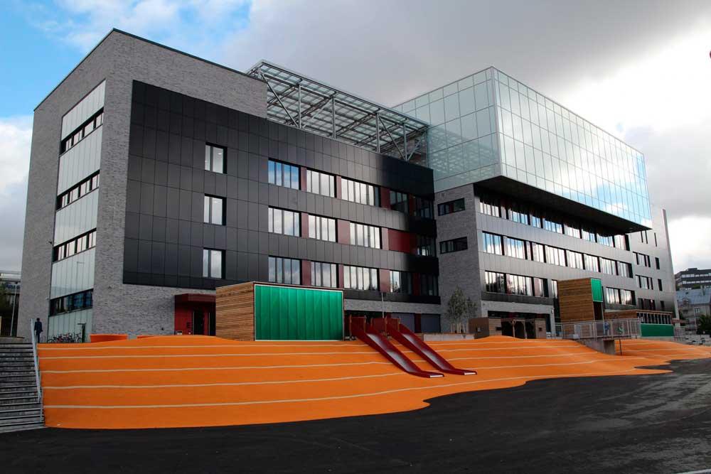 Illustrasjon av nye Brynseng skole