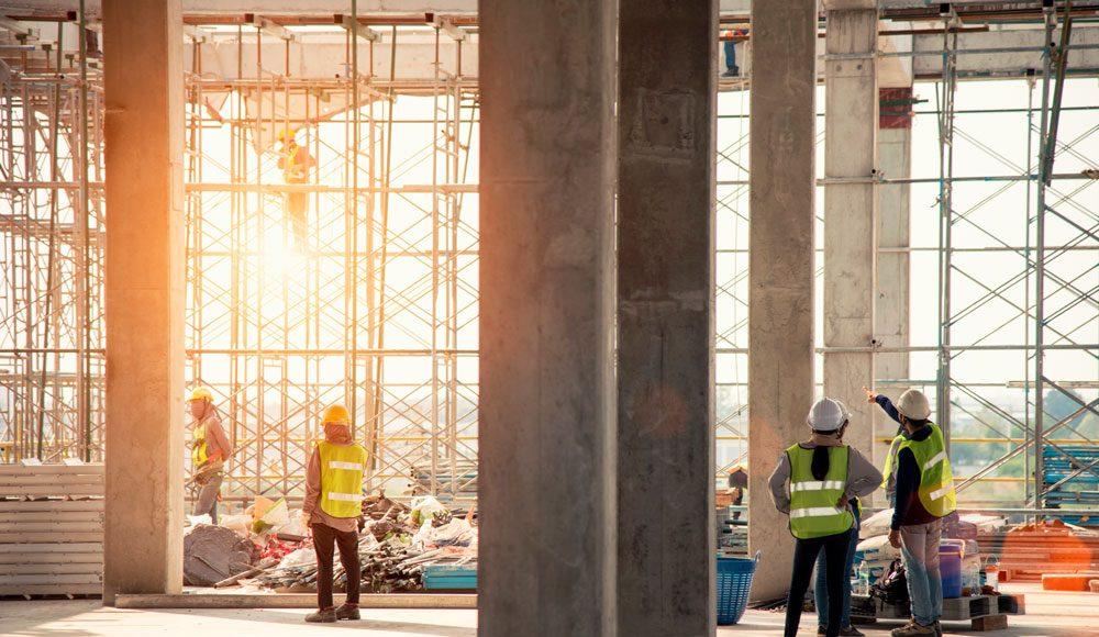 Foto av byggeplass