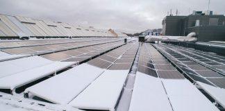 Foto av solceller på tak