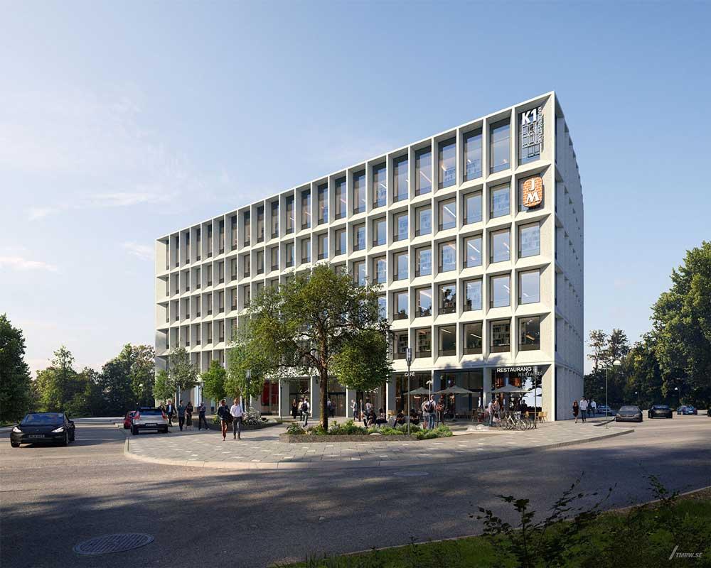 Foto av kontorbygningen Karlsberg Strand