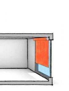 Illustrasjon av solskjerming i Torslandaskolen