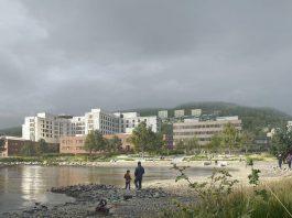 Foto av nye Drammen sykehus